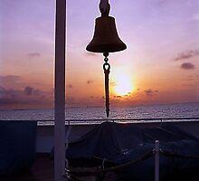 sunrise at sea by Leone Fabre