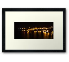 Tenby Harbour at night Framed Print