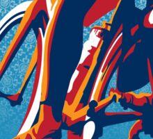 Retro styled motivational cycling poster: Bike Hard Sticker