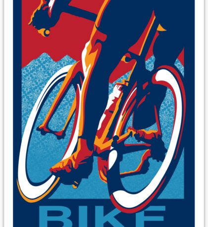 Retro styled motivational cycling poster: Bike Hard Sticker