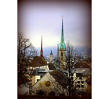 Winter View Over Zurich Photographic Print