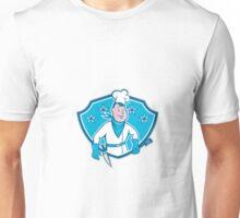 Chef Cook Star Shield Unisex T-Shirt