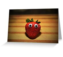 Googly-Eyed Strawberry Greeting Card