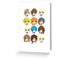 Twelve ladies of fashion Greeting Card