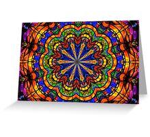 Mandala Kaleidoscope Greeting Card