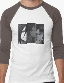 Levi, Eren, Mikasa Men's Baseball ¾ T-Shirt