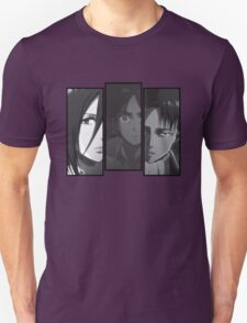 Levi, Eren, Mikasa Unisex T-Shirt
