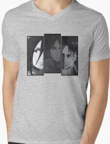 Levi, Eren, Mikasa Mens V-Neck T-Shirt