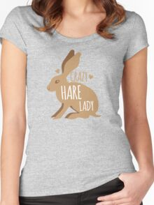 Crazy hare lady Women's Fitted Scoop T-Shirt