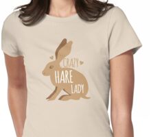 Crazy hare lady Womens Fitted T-Shirt