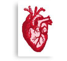 Heart - pixel art Canvas Print