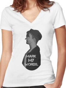 Mark My Words // Purpose Pack // Women's Fitted V-Neck T-Shirt