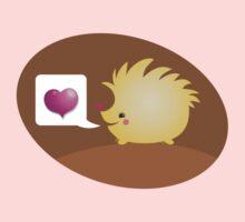 Cute little hedgehog saying LOVE Kids Tee