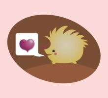 Cute little hedgehog saying LOVE One Piece - Short Sleeve