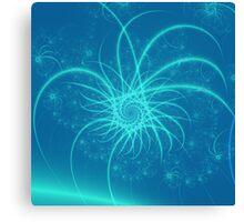 Blue Spiral Stars Canvas Print