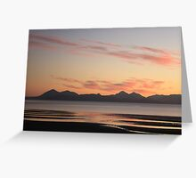 Cuillin Sunset from Applecross Greeting Card