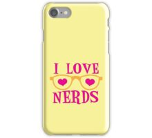I love NERDS with cute nerdy Glasses and heart iPhone Case/Skin