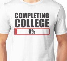 Completing College 0 per cent % progress bar Unisex T-Shirt