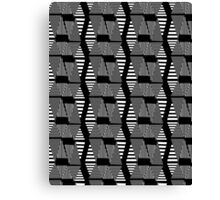 abstract black and white pattern Canvas Print
