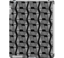 abstract black and white pattern iPad Case/Skin