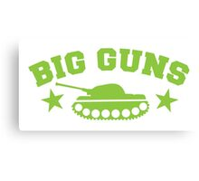 BIG GUNS with military tank weapon Canvas Print