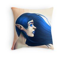 Elf in the Wind Throw Pillow