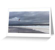 Kite Surfing, Gairloch Greeting Card