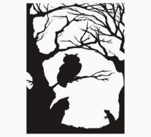 Silhouette Forest by Necroticowl
