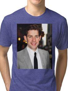 John Krasinski being cute  Tri-blend T-Shirt