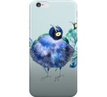 Funny exotic birds iPhone Case/Skin