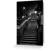 Deserted Staircase Greeting Card