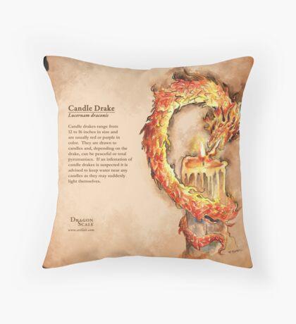 Dragon Scale: Candle Drake Throw Pillow