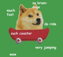 Doge Coaster (White Text) Kids Clothes