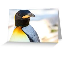 King Penguin Greeting Card