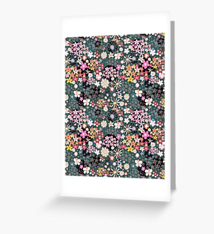Pattern of multicolored flowers Greeting Card