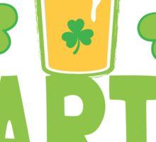 IRISH party STARTER! with pint glass Sticker