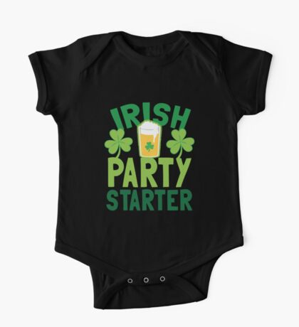 IRISH party STARTER! with pint glass One Piece - Short Sleeve
