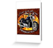Triumph Thunderbird Fast and Fierce Greeting Card