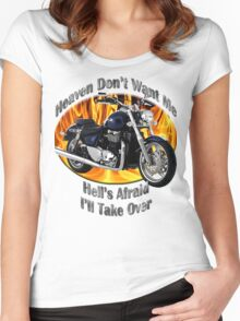 Triumph Thunderbird Heaven Don't Want Me Women's Fitted Scoop T-Shirt