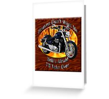 Triumph Thunderbird Heaven Don't Want Me Greeting Card