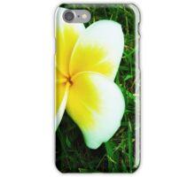 White Plumeria iPhone Case/Skin