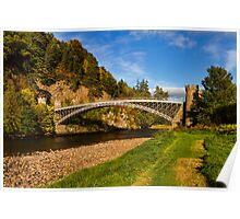 Craigellachie, Bridge in Autumn Poster