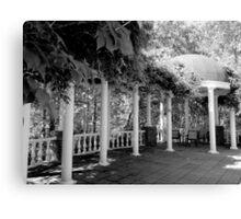 Garden Patio - B&W    ^ Canvas Print