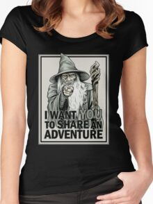 Middle Earth Recruitment Women's Fitted Scoop T-Shirt