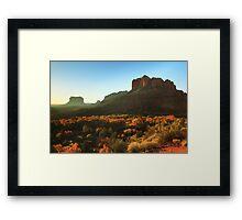 Morning sunlight on Sedona Arizona Framed Print