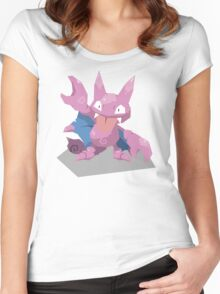 Cutout Gligar Women's Fitted Scoop T-Shirt