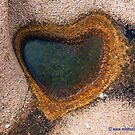 Puddle Heart on Granite Rocks by Michael Brewer
