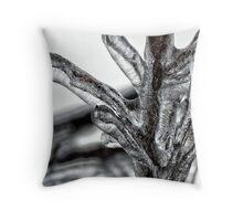 Frozen Branches Detail Winter Theme Throw Pillow