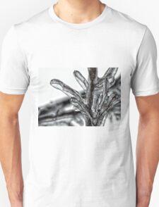 Frozen Branches Detail Winter Theme T-Shirt