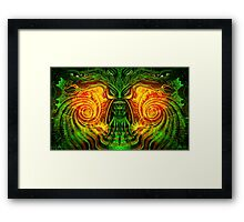 Spinach Rolled Framed Print